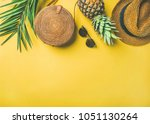 colorful summer female fashion... | Shutterstock . vector #1051130264