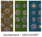 cpu microprocessors microchip...   Shutterstock .eps vector #1051132307