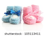 Pink And Blue Baby Boots...
