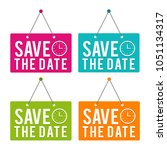 Save The Date With Icon Hanging ...