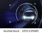concept of high speed magnetic... | Shutterstock . vector #1051135085