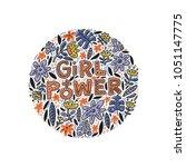 girl power lettering design... | Shutterstock .eps vector #1051147775
