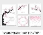 set of greeting cards and... | Shutterstock .eps vector #1051147784