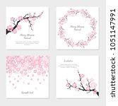 set of greeting cards and... | Shutterstock .eps vector #1051147991