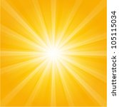 orange sunburst summer holiday... | Shutterstock .eps vector #105115034