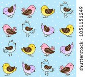 Seamless Pattern With Cute...