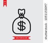 money bag vector icon