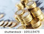 business diagram on financial... | Shutterstock . vector #105115475