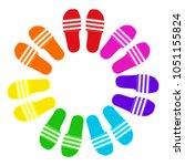 slide slipper beach sandals...   Shutterstock .eps vector #1051155824
