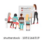 business training for workers ... | Shutterstock .eps vector #1051166519