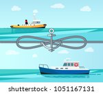 sea transport color banner... | Shutterstock .eps vector #1051167131