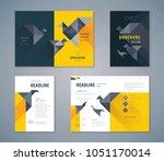 cover book design set  paper... | Shutterstock .eps vector #1051170014