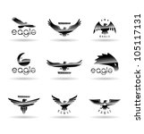 Eagle Silhouettes Set 1.