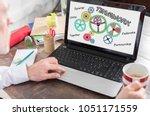 teamwork concept shown on a... | Shutterstock . vector #1051171559