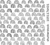 kiddy hand drawing waves doodle ... | Shutterstock .eps vector #1051176431