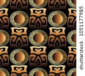 greek key 3d seamless pattern.... | Shutterstock .eps vector #1051177985