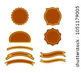 a set of labels. isolated icons.... | Shutterstock .eps vector #1051179005