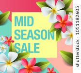 spring sale background banner... | Shutterstock .eps vector #1051182605
