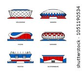 sport stadiums icons for... | Shutterstock .eps vector #1051190534