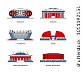 sport stadiums icons for... | Shutterstock .eps vector #1051192151