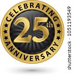 celebrating 25th anniversary... | Shutterstock .eps vector #1051193549
