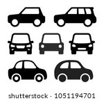 set of car. monochrome icon.... | Shutterstock .eps vector #1051194701
