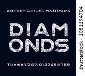 diamond alphabet font.... | Shutterstock .eps vector #1051194704