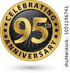 celebrating 95th anniversary... | Shutterstock .eps vector #1051196741