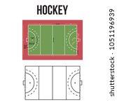 hockey court vector illustration   Shutterstock .eps vector #1051196939