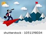 business success concept.... | Shutterstock .eps vector #1051198034