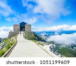 The Njegos Mausoleum at the top of the Lovcen Mountain near Kotor, Montenegro