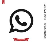 call icon. whats app line... | Shutterstock .eps vector #1051199624