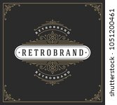 ornament logo design template... | Shutterstock .eps vector #1051200461
