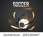 soccer league text with soccer... | Shutterstock .eps vector #1051203467