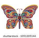 butterfly. colorful spring... | Shutterstock .eps vector #1051205144