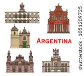 argentina architecture... | Shutterstock .eps vector #1051209725