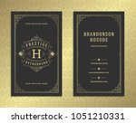 luxury business card and... | Shutterstock .eps vector #1051210331