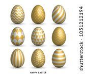 happy easter background with 9... | Shutterstock .eps vector #1051212194