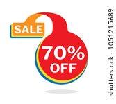 70  off discount sticker ... | Shutterstock .eps vector #1051215689