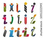 i letter icons template for... | Shutterstock .eps vector #1051222595