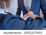 groom's preparation for wedding | Shutterstock . vector #1051227431