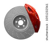 disc brake isolated on white... | Shutterstock . vector #1051232561