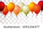 realistic helium balloons... | Shutterstock .eps vector #1051236377