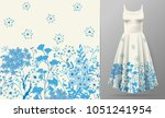 cute pattern in small simple...   Shutterstock . vector #1051241954