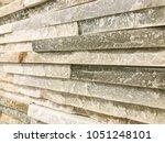 stone brick wall textured...   Shutterstock . vector #1051248101