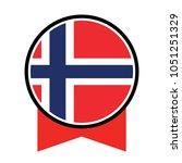 norway flag  official colors... | Shutterstock .eps vector #1051251329