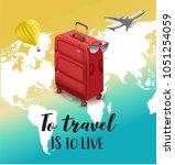 love travel concept... | Shutterstock .eps vector #1051254059