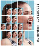the collage of different human... | Shutterstock . vector #1051257131