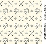seamless pattern in native... | Shutterstock .eps vector #105125879