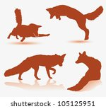 Fox silhouette - vector illustration